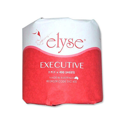Elyse Executive Exc-400 Toilet Paper 2Ply 400Sheets, 48Rolls/ctn
