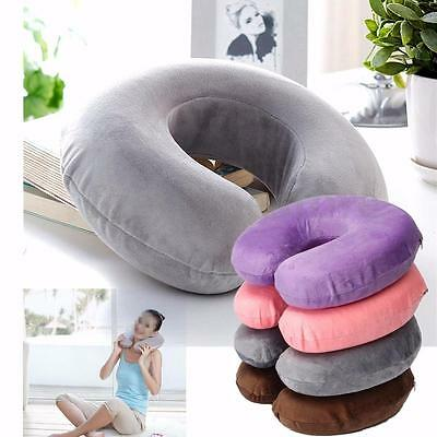 U-Shape Pillow Memory Foam Neck Head Rest Flight Travel Soft Home Office Cushion
