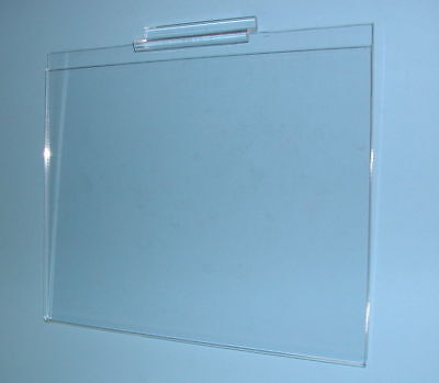 "Plexi 8-1/2""Hx11""W Horiz. Sign Card Holder SLATWALL Lot of 24 NEW FREE SHIPPING*"