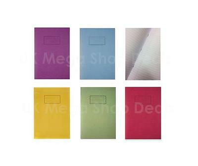 Exercise Book for School Ruled and Margin A4 & A5 Silvine Blue Red Green Purple