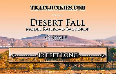 "Train Junkies O Scale ""Desert Fall""  Backdrop 24x144"" C-10 Brand New"