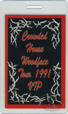 Crowded House 1991 Laminated Backstage Pass Neil Finn
