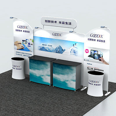 20ft portable trade show display pop up stand booth with custom graphic printing
