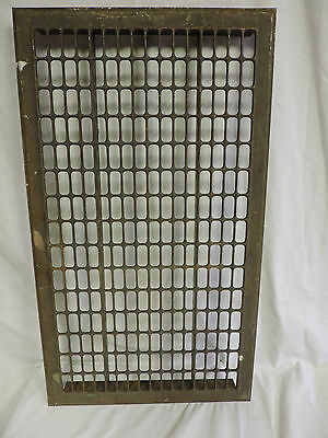 Huge Vintage 1920S Iron Heating Grate Rectangular Design 32.25 X 18.5
