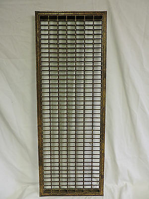 Huge Vintage 1920S Iron Heating Grate Rectangular Design 44 X 16