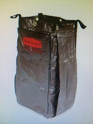 2 Rubbermaid MAID HOUSEKEEPING CART FG51618900 Vinyl Replacement Bag SIDE ZIPPER