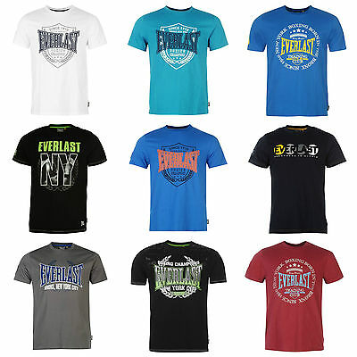 Everlast Mens T shirt Designer Crew Casual Fashion Sports Shirt Top S M L XL XXL