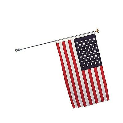 "Rothco 189 Flag Pole With Bracket Total Length 68"" With Or Without 3' 5"" Us Flag"