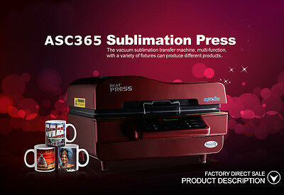 Free Shipping 110V 3D Vacuum Sublimation Heat Press Transfer Machine for Mugs