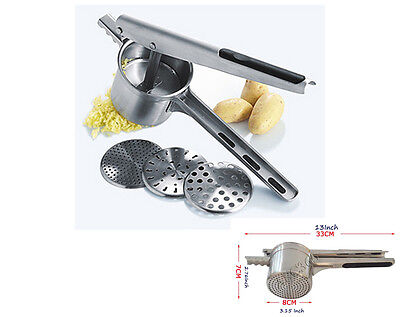 New Stainless Steel Chef'n Freshforce Potato Press Ricers Mashed Potato Maker
