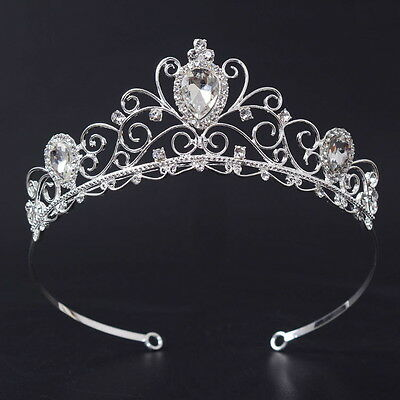 Lovely Drip Crystal Adult Girl Wedding Bridal Party Pageant Prom Tiara Crown