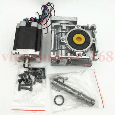 Nema23 Stepper Motor L76mm Worm Gearbox 7.5:1 10:1 15:1 20:1 30:1 Reducer Kit