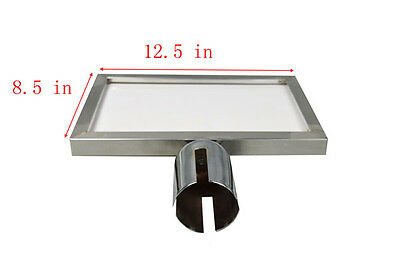 Stainless Steel Signboard for Retractable Belt Stanchion CrowdControl