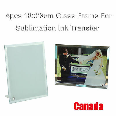 4Pcs 18x23cm Blank Glass Photo Picture Frame for Sublimation Transfer