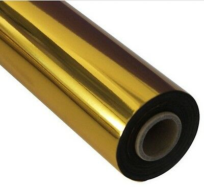 0.7X131 yds Gold Foil Paper Hot Stamping Paper Heat Transfer new Package Gilding