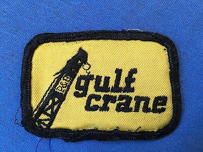 Vintage GULF CRANE Mechanics Uniform Patch P&H Industrial Rigging Petroleum Oil