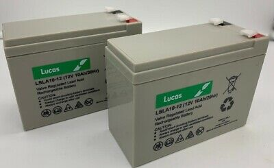 2 (Pair) X Lucas AGM 12V 10AH MOBILITY SCOOTER BATTERIES FOR SHOPRIDER ALTEA 4