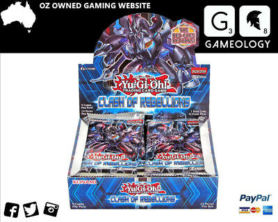 Yugioh Clash of Rebellions Booster Box Trading Game