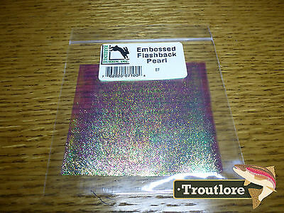 Hareline Dubbin Embossed Pearl Flashback Sheet - New Fly Tying Materials