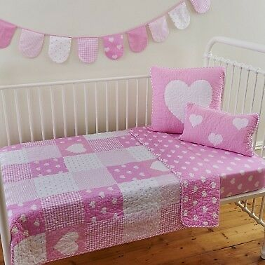 'Linens n things' Lucy Cot Quilt & Square Cushion Cover