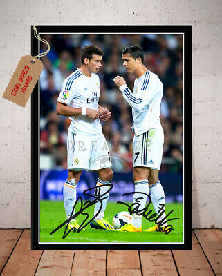Gareth Bale Cristiano Ronaldo Real Madrid Autographed Signed Photo Print