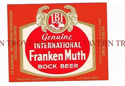 Kentucky Frankenmuth Bock Covington Beer 12oz Label Tavern Trove
