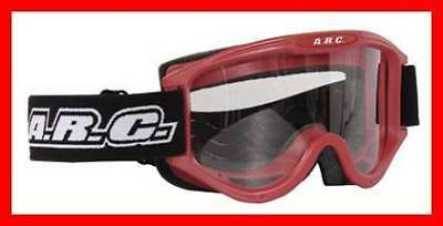 New Arc Motocross Goggles Red Adult Size