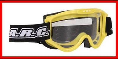 New Arc Motocross Goggles Yellow Adult Size