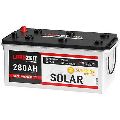 Solarbatterie 280Ah 12V Wohnmobil Boot Wohnwagen Camping Batterie 230Ah 250Ah