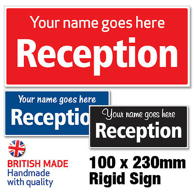Personalised Custom Made Reception Sign, Shop Window/door – Any Colour
