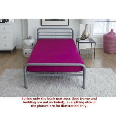 6 Twin Quilted Top Bunk Bed Mattress Multiple Colors 70 89