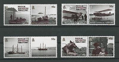 (W0461) Br. Antarctic Territory, Transportation, Set In Pairs, Um/mnh, See Scan
