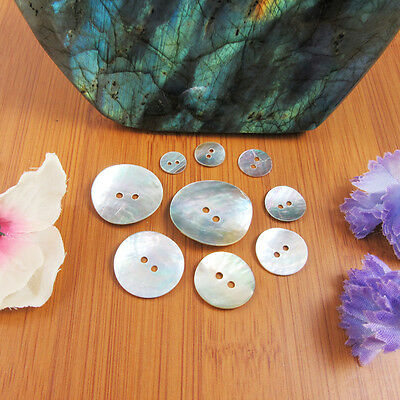 Mother Of Pearl Shell Buttons Natural Pearlescent 9 Sizes