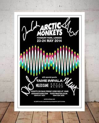 Alex Turner Arctic Monkeys 2014 Concert Flyer Autographed Signed Photo Print