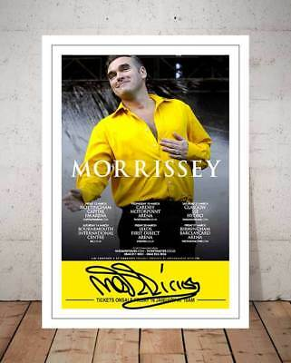 Morrissey 2015 Concert Flyer Autographed Signed Photo Print