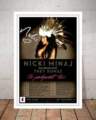 Nicki Minaj The Pink Print Tour 2015 Concert Flyer Autograph Signed Photo Print