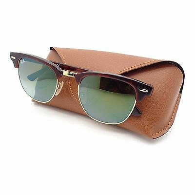 70cd684ba6 Ray Ban Clubmaster 3016 990 9J Red Havana Gold Green Fade Mirror New  Authentic
