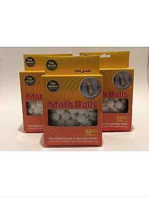 Original Moth Balls Repellent Wardrobe Old Fashioned Kills Moth Eggs & Larvae