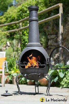 La Hacienda Murcia Extra Large Chimenea with Grill Xmas bargain!