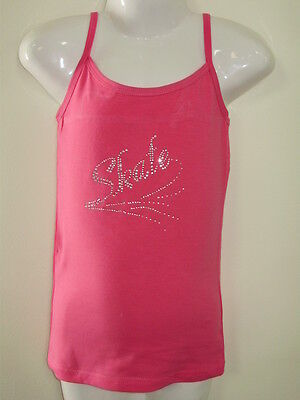 Skate Top /Cotton lycra Hot Pink Girls size 8 and 12
