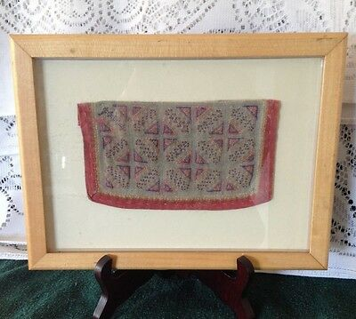Antique  Framed Thailand Hill Tribe Textiles