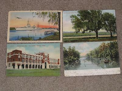 Houston Texas, 4 different cards (see description) 1900`s & 1940