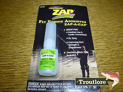 Zap-A-Gap Zap Fly Fishing Adhesive Glue - New Fly Tying Essential