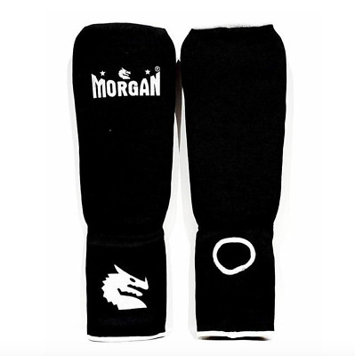 Cotton Shin Instep Guards Morgan Boxing Martial Arts Mma Xs S M L New Pair