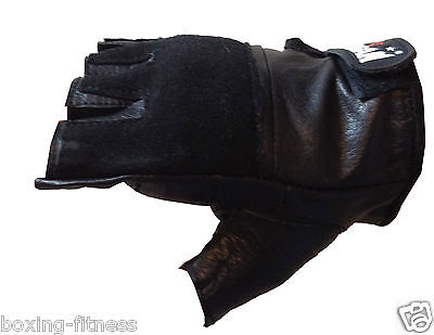 MORGAN leather weight lifting gloves S M L XL SPEED BALL SPEEDBALL MITTS pair