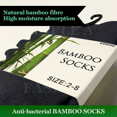 Anti-bacterial Bamboo Socks for Ladies 2-8 Women or  Men 6-11 Stock From Sydney