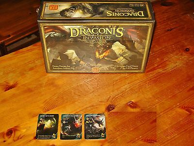 DRACONIS INVASION Game KICKSTARTER w/150+EXCLUSIVE CARDS+ADD-ONS! NEW/SHIPS INTL