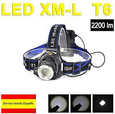 Linterna Frontal Cree 2200Lm Xm-L Xml T6 Aa Headlamp Outdoor Campo Bici