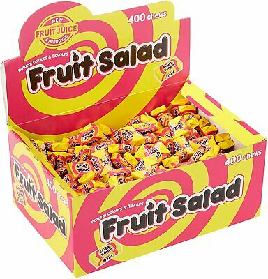 Barratt Fruit Salads Retro Chews Sweets Party Bags 100g - 1kg Full Box of 400