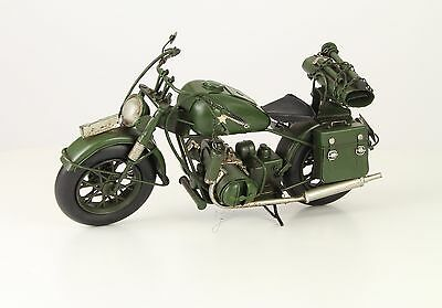 Blechmotorrad - Army Bike- A Tin Model Of An Army Motorcycle - 37 x 16 x 20 cm